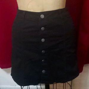 Love fire black size 1 button down mini skirt